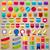 nagy · gyűjtemény · vásár · matricák · címkék · kitűző - stock fotó © cammep