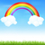 cor · arco-íris · nuvens · blue · sky · gradiente - foto stock © cammep