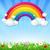 couleur · Rainbow · nuages · ciel · bleu · gradient - photo stock © cammep