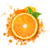 orange with orange blob and green leaves stock photo © cammep