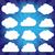 vektor · átláthatóság · gradiens · felhők · szett · kék - stock fotó © cammep