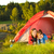 young couple camping lying in tent stock photo © candyboxphoto