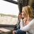 vrouw · naar · uit · trein · venster - stockfoto © candyboxphoto