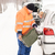 man filling woman car gas winter assistance stock photo © candyboxphoto