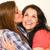 barátság · nővérek · csók · barátok · mosoly · gyerekek - stock fotó © candyboxphoto