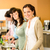zakenvrouw · cafetaria · lunch · glimlachend · kiezen - stockfoto © candyboxphoto