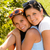 mother and teen daughter hugging outdoors relaxing stock photo © candyboxphoto