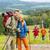 kirándulás · pár · sétál · hegy · terep · néz - stock fotó © candyboxphoto