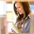 vrouwelijke · student · middelbare · school · bibliotheek · mooie · laptop - stockfoto © candyboxphoto