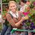 mulher · jovem · compra · flores · jardim · centro · cor - foto stock © candyboxphoto