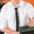 young bartender in uniform taking cash czk stock photo © candyboxphoto