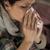 közelkép · portré · nő · papírzsebkendő · fúj · orr - stock fotó © candyboxphoto