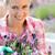 genç · kadın · bahçıvan · beyaz · çiçek · gülümseme · çalışmak - stok fotoğraf © candyboxphoto