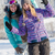two girlfriends in winter snow mountains smiling stock photo © candyboxphoto