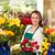 cheerful female florist bouquet roses flower shop stock photo © candyboxphoto