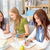 weiblichen · College · Studenten · arbeiten · Hausaufgaben · drei - stock foto © candyboxphoto