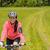 fiatal · kerékpáros · legelő · alkalmi · ruha · mesés · természet - stock fotó © candyboxphoto