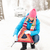 woman put reflector triangle car breakdown winter stock photo © candyboxphoto