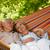idős · pár · megnyugtató · függőágy · nő · férfi · nők - stock fotó © candyboxphoto
