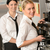 smiling young waitresses serving coffee restaurant stock photo © candyboxphoto
