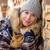 divat · tél · nő · borító · pléd · vidék - stock fotó © candyboxphoto