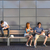 college students sitting on bench modern wall stock photo © candyboxphoto