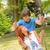 fiú · lány · játszótér · mosoly · napos · nyár - stock fotó © candyboxphoto