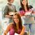 学生 · メモを取る · 研究 · ルーム · 笑みを浮かべて · 教育 - ストックフォト © candyboxphoto