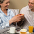 senior couple having romantic morning breakfast stock photo © candyboxphoto