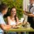 улыбаясь · пару · друзей · меню · ресторан · отдыха - Сток-фото © candyboxphoto