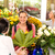 young woman buying bouquet flower shop customer stock photo © candyboxphoto