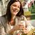 смеясь · женщину · продовольствие · ресторан · очки - Сток-фото © candyboxphoto