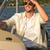 расслабляющая · человека · сидят · лодка · парусного · океана - Сток-фото © candyboxphoto