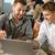 zakenman · met · behulp · van · laptop · cafe · vergadering · tabel · computer - stockfoto © candyboxphoto