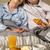 dojrzały · para · śniadanie · romantyczny - zdjęcia stock © candyboxphoto
