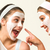 two girls with cosmetic mask laughing stock photo © candyboxphoto