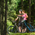 örömteli · pár · biciklik · nő · egészség · hegy - stock fotó © candyboxphoto