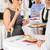 mujer · de · negocios · buffet · restauración · servicio · empresa · evento - foto stock © candyboxphoto