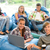 students sitting on beanbags in study room in study room stock photo © candyboxphoto