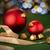 クリスマス · シンボル · バケット · シャンパン · ボトル · 花輪 - ストックフォト © candyboxphoto