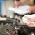 monteur · motorolie · niveau · auto · dienst · reparatie - stockfoto © candyboxphoto