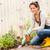 smiling woman gardening backyard hobby small tools stock photo © candyboxphoto