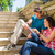genç · işsiz · adam · oturma · merdiven · portre - stok fotoğraf © candyboxphoto