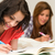 young teenager girls studying on bed stock photo © candyboxphoto