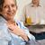 senior · homem · café · da · manhã · esposa · doente - foto stock © candyboxphoto