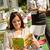 mujer · sonriente · café · beber · restaurante · retrato · hermosa · niña - foto stock © candyboxphoto