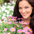 portrait of beautiful woman with purple flowers stock photo © candyboxphoto