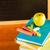 okula · geri · kitaplar · kırmızı · elma · yeşil · natürmort - stok fotoğraf © candyboxphoto