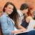Studenten · Mädchen · zusammen · außerhalb · College - stock foto © candyboxphoto