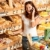 grocery store young woman with mobile phone stock photo © candyboxphoto